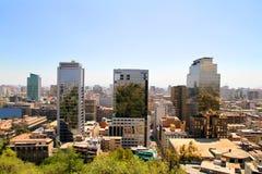 View over Santiago de Chile Stock Photography