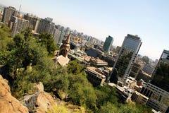 View over Santiago de Chile Stock Images