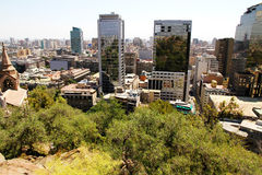 View over Santiago de Chile Royalty Free Stock Photos
