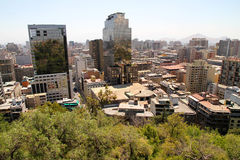 View over Santiago de Chile Royalty Free Stock Photography