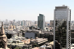 View over Santiago de Chile Royalty Free Stock Images