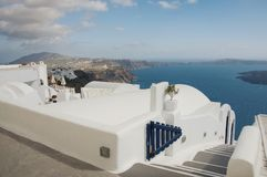 View over Santorini coastline royalty free stock photo