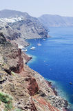 View over Santorini port Royalty Free Stock Images