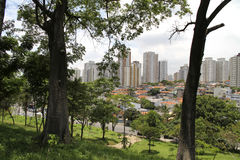 View over Sao Paulo. Skyline of Sao Paulo, Brazil Stock Photo