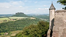 View over Saxony landscape Stock Image