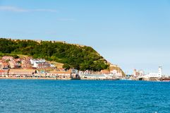 View over Scarborough South Bay harbor in North Yorskire, England Royalty Free Stock Photography