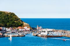 View over Scarborough South Bay harbor in North Yorskire, England Stock Photography