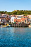 View over Scarborough South Bay harbor in North Yorskire, England Royalty Free Stock Photos