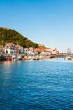 View over Scarborough South Bay harbor in North Yorskire, England Stock Image