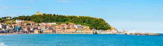 View over Scarborough South Bay harbor in North Yorskire, England Stock Photos