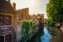 View over Brugge canal, Belgium. Stock Image