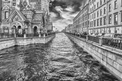 View over the scenic Griboyedov Canal, St. Petersburg, Russia Royalty Free Stock Photos