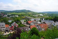 View over Schengen in Luxembourg. Royalty Free Stock Photography