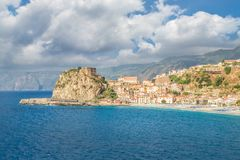 View over Scilla with Castello Ruffo, Calabria, Italy Royalty Free Stock Image