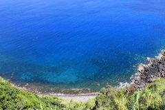 View over the sea in Azores Portugal Royalty Free Stock Image