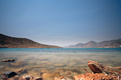 View over sea from the island of Spinalonga,Crete, Royalty Free Stock Image
