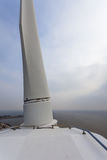 View over Sea from the Top Roof of a Wind Turbine Stock Photos