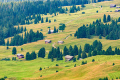 View over Seiser Alm Stock Photos