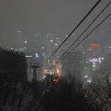 View over Seoul, South Korea, at night from the Namsan mountain Royalty Free Stock Photography