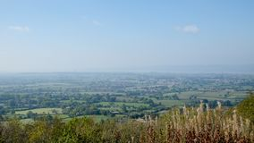 View over The Severn Vale from Stinchcombe Hill, Gloucestershire, UK. View over The Severn Vale from Stinchcombe Hill viewpoint, Cotswolds, Gloucestershire, UK Royalty Free Stock Images