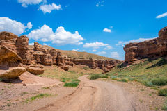 View over Sharyn or Charyn Canyon, Kazakhstan Stock Photography