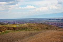 View over Sharyn or Charyn Canyon, Kazakhstan Royalty Free Stock Photos
