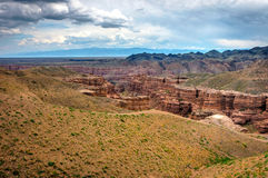 View over Sharyn or Charyn Canyon, Kazakhstan Stock Image