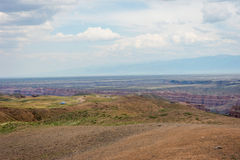 View over Sharyn or Charyn Canyon, Kazakhstan Royalty Free Stock Photo