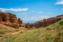 View over Sharyn or Charyn Canyon, Kazakhstan Stock Photo