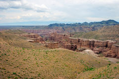 View over Sharyn or Charyn Canyon, Kazakhstan Stock Photos