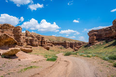 View over Sharyn or Charyn Canyon, Kazakhstan Royalty Free Stock Photography