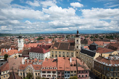 View over Sibiu city in Romania Stock Image