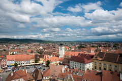 View over Sibiu city in Romania Stock Photos