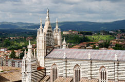 View over Siena and the Cathedral. Royalty Free Stock Photography