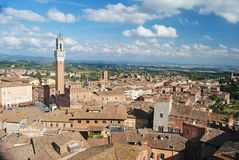 View over Siena, Italy Royalty Free Stock Photos