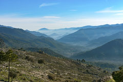 View over the Sierra Cazorla Mountain Range Stock Images