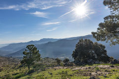 View over the Sierra Cazorla Mountain Range Royalty Free Stock Photos