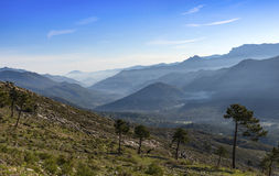 View over the Sierra Cazorla Mountain Range Royalty Free Stock Photography