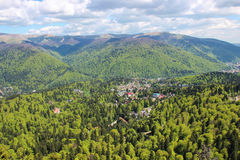 A view Over Sinaia and the Prahova Valley Royalty Free Stock Image