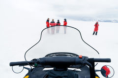 View over a Skidoo cockpit Royalty Free Stock Photos
