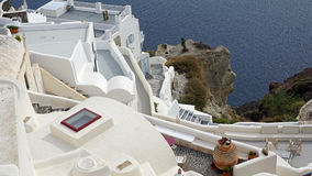 View over small oia village on santorini island Royalty Free Stock Photography