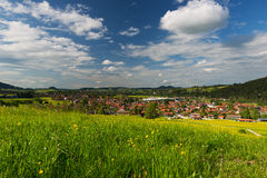 View over small village in germany Royalty Free Stock Image