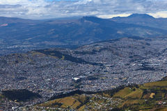 View Over Southern Quito, Ecuador Royalty Free Stock Photos