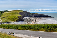 View over Southerndown, Glamorgan Coastline Royalty Free Stock Photography