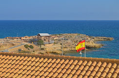 View Over A Spanish House To The Sea Royalty Free Stock Photos