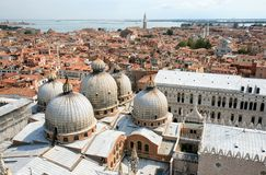 View Over St Marks Basilica And Venice, Italy Royalty Free Stock Photo