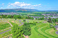View Over Stirling stock image