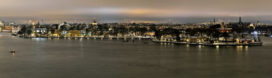 View over Stockholm with the island Kastellholmen and Skeppsholmen Stock Image
