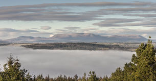 View over Strathpeffer from Craig Phadrig in Inverness. Royalty Free Stock Image