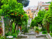 View over the street in Taormina, Sicily, Italy, Europe Royalty Free Stock Photos